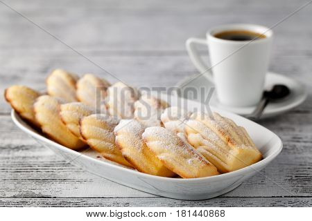 Madeleine Is A French Cookie/cake Made Of Butter, Eggs, And Flour. Easy Recipe For The Best Madelein