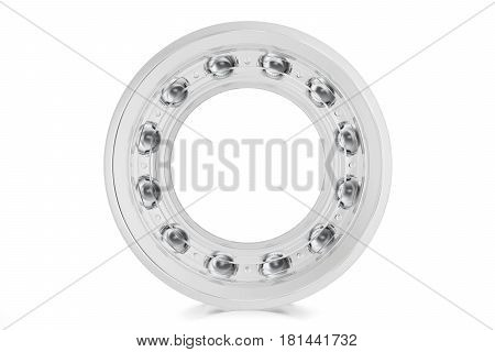 Industrial transparent bearings on a white background , 3d rendering