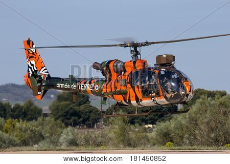 French Army Tiger Sa341 Gazelle Military Helicopter
