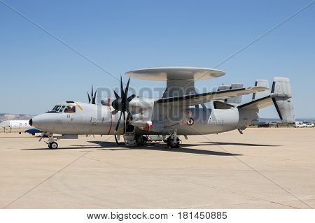 France Navy E-2C Hawkeye Radar Airplane