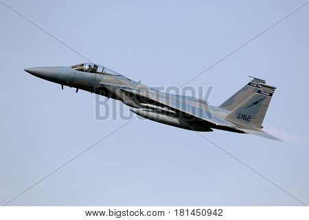 Military F15 Fighter Jet Airplane Flying
