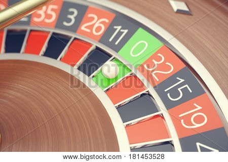 Las Vegas Casino Roulette, Casino Roulette Game, Casino Gambling Concept 3D rendering