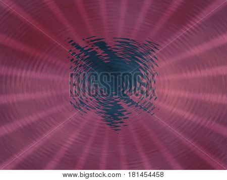 Albanian flag background with ripples and rays illustration