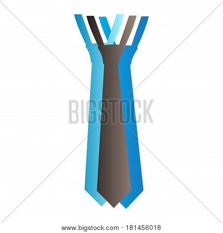 Isolated necktie on a white background, Vector illustration