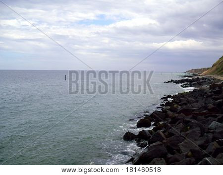 A View Of The Coast At Sheringham In Norfolk