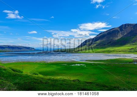 Coastline And Landscape In The West Fjords