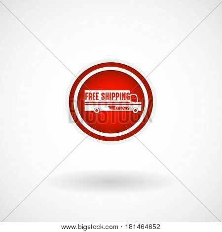 Simple Free Shipping Icon, Vector, Illustration, Eps