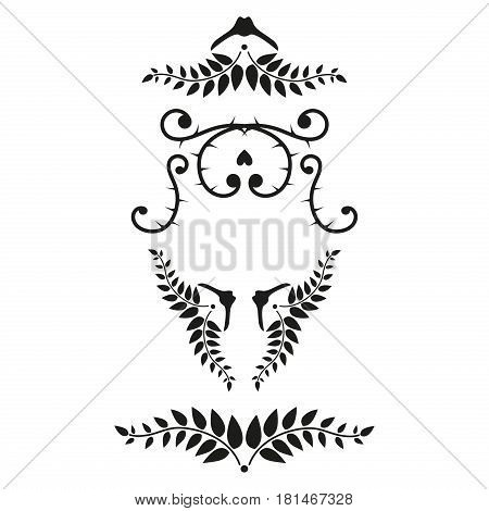 Collection of handdrawn dividers borders made vector illustration. Unique swirls and dividers for your design. Ink borders vector decorative line design dividers. Elegance decoration ornament.