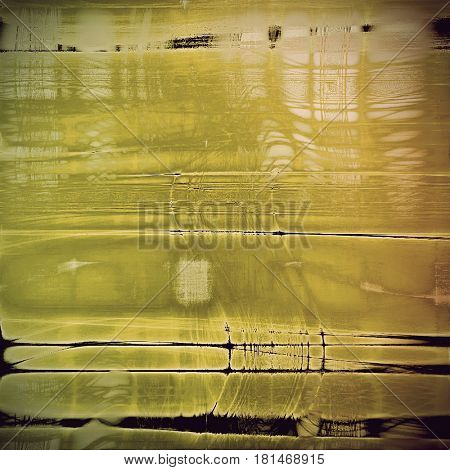 Old, grunge background or damaged texture in retro style. With different color patterns: yellow (beige); brown; gray; black