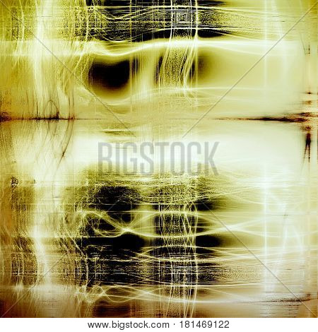 Abstract grunge background or damaged vintage texture. With different color patterns: yellow (beige); brown; green; gray; black; white