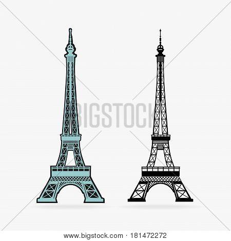 Vector Symbol Eiffel Tower eps 8 file format