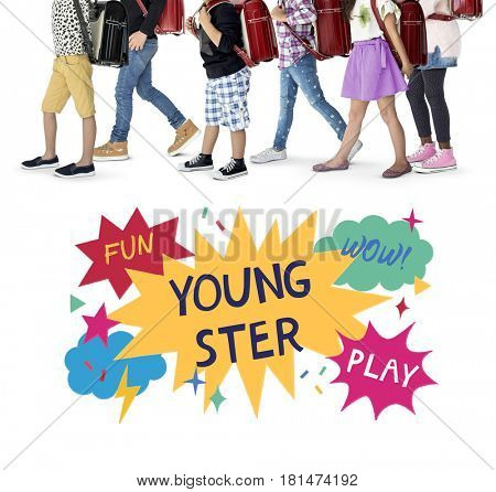 Youngster Childhood Fun Entertainment Concept