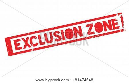 Exclusion Zone rubber stamp. Grunge design with dust scratches. Effects can be easily removed for a clean, crisp look. Color is easily changed.