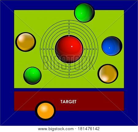 RED target.  Red goal is always the main target. target silhouette, target audience, target list, target symbol,
