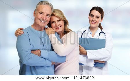 Doctor and patient couple.