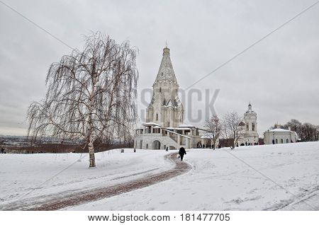 The Church of the Ascension in Kolomenskoye Moscow Russia