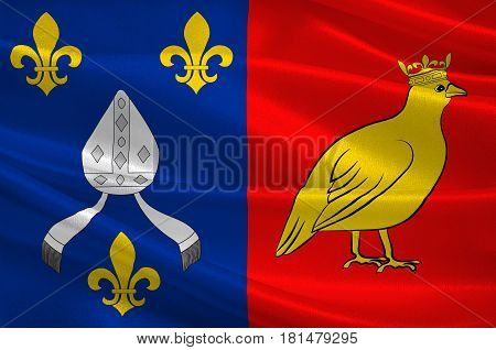 Flag of Charente-Maritime is a department on the southwestern coast of France. 3d illustration