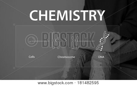 Woman study biology humanity life science genetic research