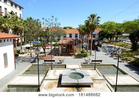 The pools at luxury hotel Costa Dorada Spain