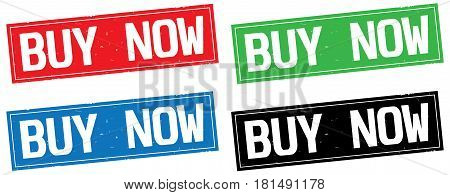 Buy Now Text, On Rectangle Stamp Sign.
