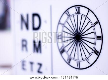 Optician Eye Test Chart