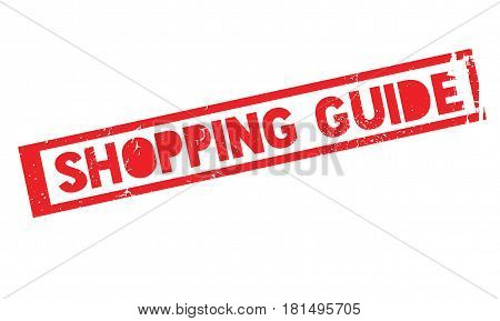 Shopping Guide rubber stamp. Grunge design with dust scratches. Effects can be easily removed for a clean, crisp look. Color is easily changed.