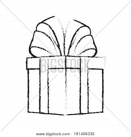 giftbox with big bow on top icon image vector illustration design