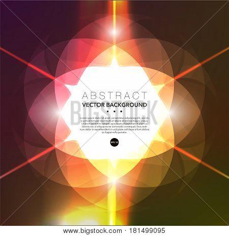 Abstract vector background. Colorful geometric background. Use for template, poster or brochure design. Vector illustration. Eps10.