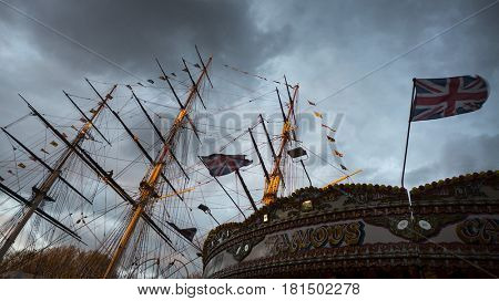 13 April 2017, London, Greenwich Tall Ships Festival, Historical Sailing Ships from around the world converge at Greenwich, London to celebrate Great Britains Maritime History.