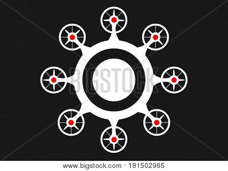 super drone icon. Drone symbol. isolated Vector illustration