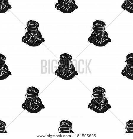 Hostage icon in black style isolated on white background. Crime pattern vector illustration.
