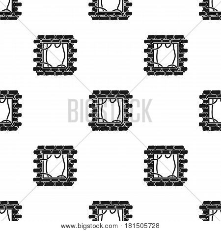 Prison escape icon in black style isolated on white background. Crime pattern vector illustration.