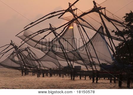 Fishing Nets At Dusk