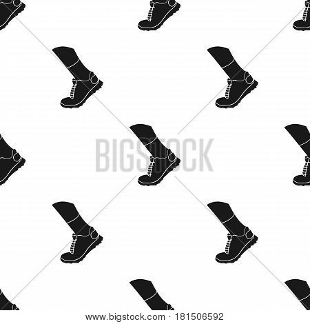 Sneakers icon in black style isolated on white background. Sport and fitness pattern vector illustration.