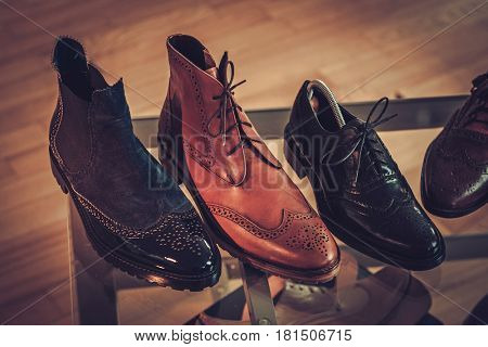 Custom made shoes in tailor studio