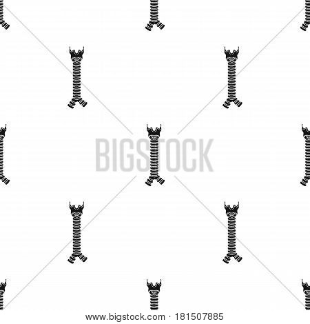 Human trachea icon in black style isolated on white background. Human organs pattern vector illustration.