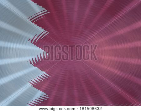 Bahrain flag background with ripples and rays illustration