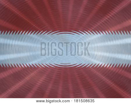 Austrian flag background with ripples and rays illustration