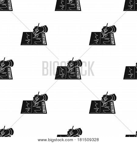 Financial graphic icon in black style isolated on white background. Money and finance pattern vector illustration.
