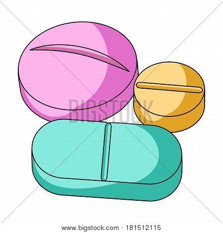 Medicinal tablets.Medicine single icon in cartoon style vector symbol stock illustration .