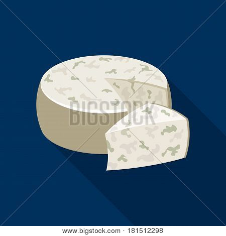 Gorgonzola.Different kinds of cheese single icon in black style vector symbol stock illustration .