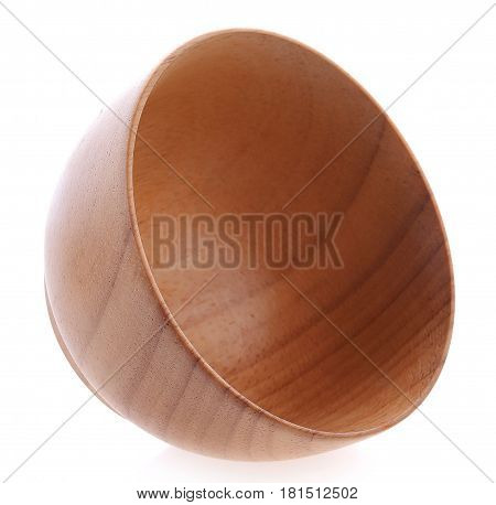 wooden bowl on white background object, circle, round, cup, tableware, color, studio, nobody, single