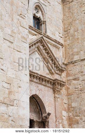 Detail of Castel del Monte. Andria. Apulia.