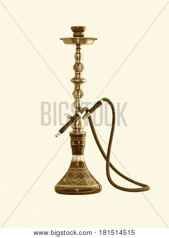Hookah ( Water pipe ) isolated on a white background .