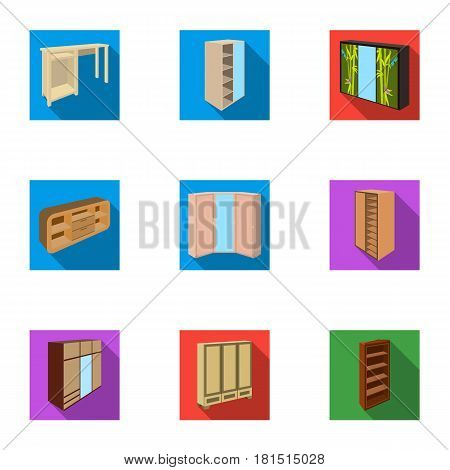 The set of images on the theme of sleep and rest. Different beds for every taste and color.Bed icon in set collection on flat style vector symbol stock web illustration.