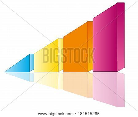 Graph in the manner of polygonal figure on white background