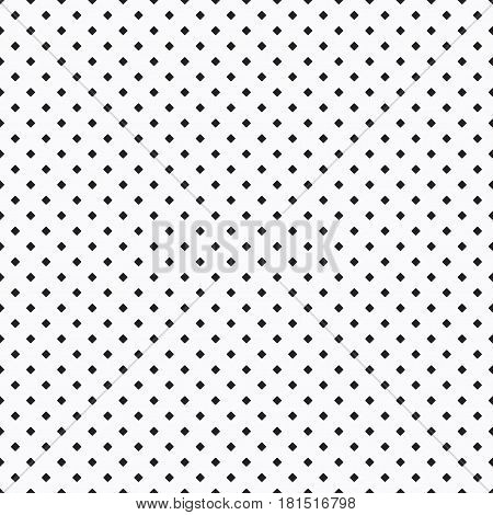 Black small dense rhombus pattern on white background
