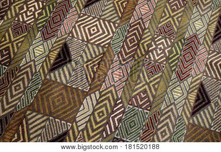 JAIPUR, INDIA - FEBRUARY 16: Handmade woven rug, oriental craft in Jaipur, Rajasthan, India on February 16, 2016.