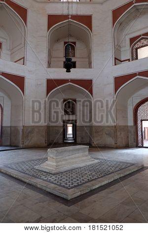 DELHI, INDIA - FEBRUARY 13: Humayun's Tomb, built by Hamida Banu Begun in 1565-72, Delhi, India on February 13, 2016