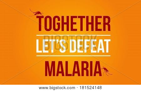 Background Malaria Day Vector Art Collection Stock